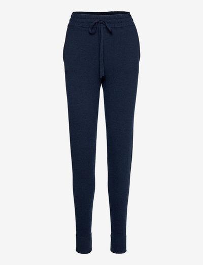 Elyssa Merino/Viscose Blend Knitted Track Pants - straight leg hosen - dark blue
