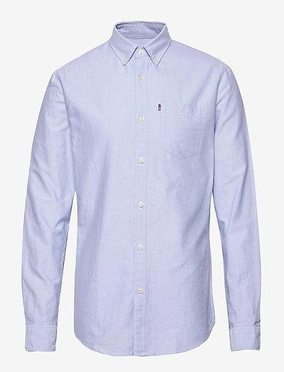 Kyle Organic Cotton Oxford Shirt - rutiga skjortor - light blue