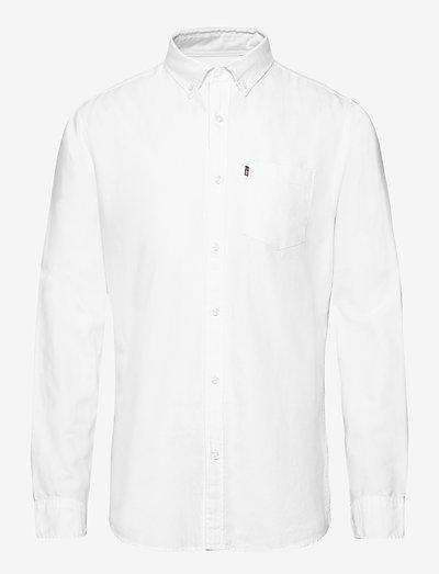 Kyle Organic Cotton Oxford Shirt - linen shirts - white