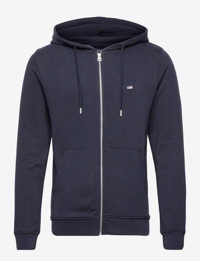 Sebastian Organic Cotton Hood - hoodies - dark blue