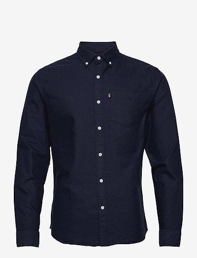 Kyle Organic Cotton Oxford Shirt - rutiga skjortor - dark blue