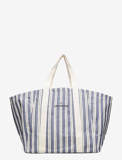 Beachway Organic Cotton Bag - shoppers  - blue multi stripe