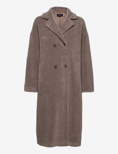 Julia Wool Blend Coat - wollmäntel - light brown