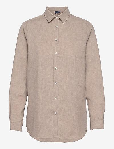 Isa Organic Cotton Lt Flannel Shirt - jeanshemden - light brown melange