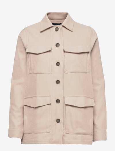 Raven Organic Cotton Flannel Overshirt - kleidung - light beige