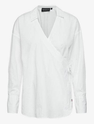 Scarlet Organic Cotton Wrap Shirt - denimskjorter - white