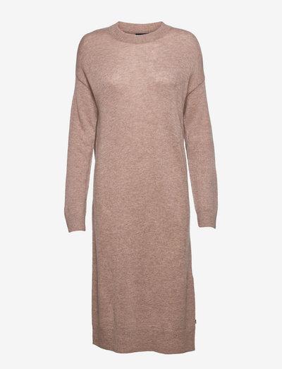 Jessa Cashmere Blend Knitted Dress - sommerkleider - light brown melange