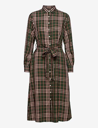 Kaitlyn Tencel Shirt Dress - sommerkleider - green multi check