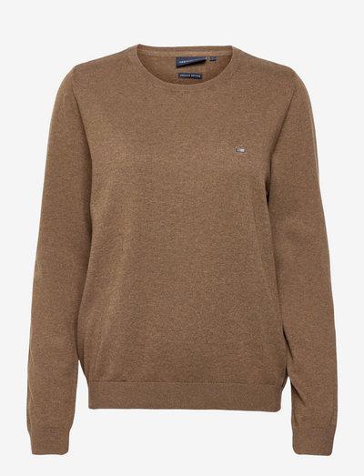 Marline Organic Cotton Sweater - pullover - brown melange