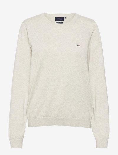 Marline Organic Cotton Sweater - sweaters - light grey melange