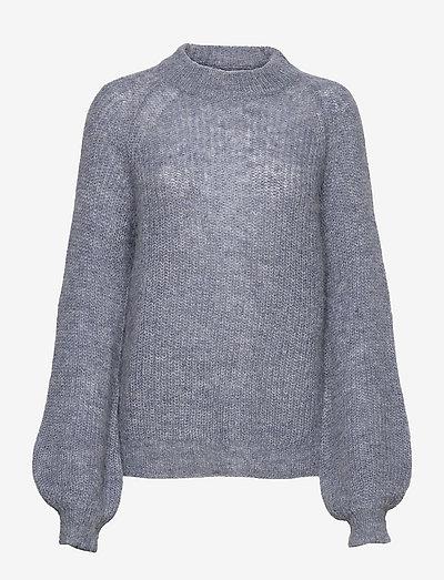 Carrie Alpaca Blend Sweater - pullover - blue melange