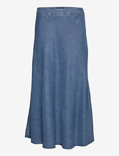 Brielle Lyocell Skirt - midi - medium blue