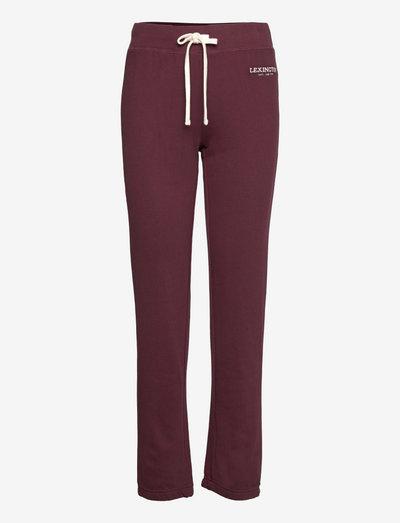 Jenna Pants - jogginghosen - dark red