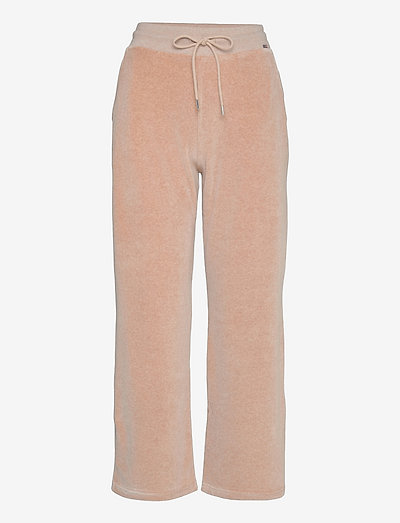 Leona Velour Pants - hosen casual - light brown melange