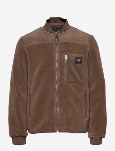 Samuel Sherpa Wool Blend Jacket - wolljacken - brown