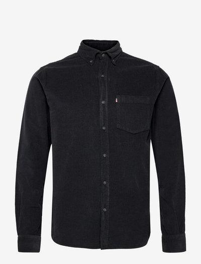 August Cord Shirt - basic-hemden - dark gray