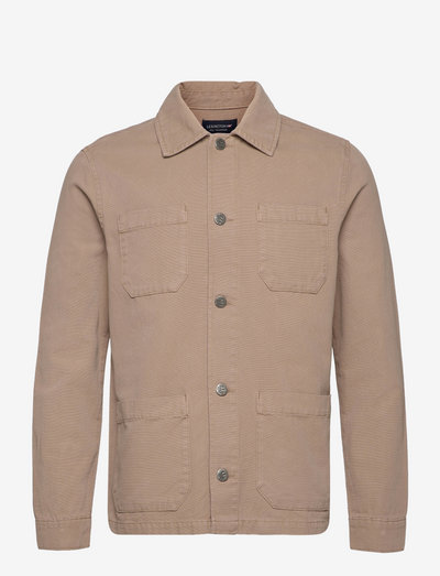 Chester Canvas Overshirt - oberteile - brown