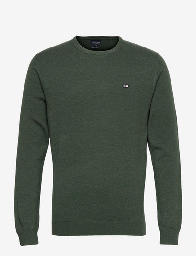 Bradley Organic Cotton Crew Neck Sweater - basic-strickmode - green melange