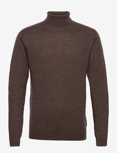 Henry Merino/Cashmere Blend Rollneck Sweater - rollkragen - brown melange