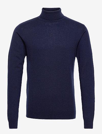 Henry Merino/Cashmere Blend Rollneck Sweater - rollkragen - dark blue