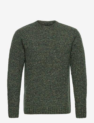 Antonius Boucle Sweater - basic-strickmode - green melange