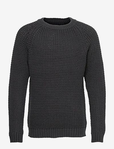Daryl Crew Neck Sweater - basic-strickmode - dark gray