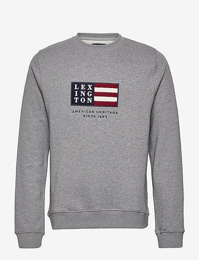 Barry Organic Cotton Sweatshirt - clothing - gray melange