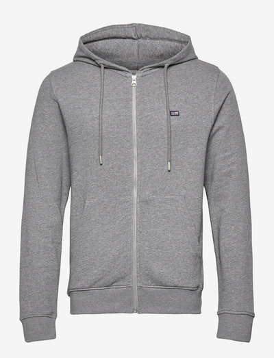 Sebastian Organic Cotton Hood - hoodies - gray melange