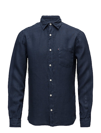 Ryan Linen Shirt - Deepest Blue