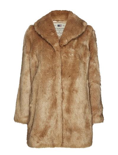 Elisabeth Faux Fur Jacket - CAMEL