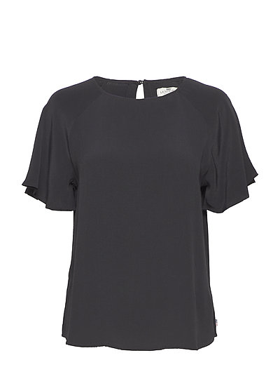Ellis Viscose Top - CAVIAR BLACK
