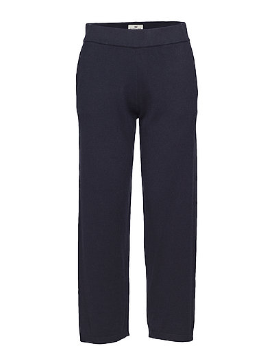 Des Knitted Track Pants - DEEP MARINE BLUE