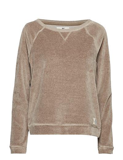 Martha Velour Sweater - BEIGE MELANGE