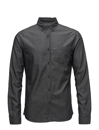 Clive Denim Shirt - DK GRAY DENIM