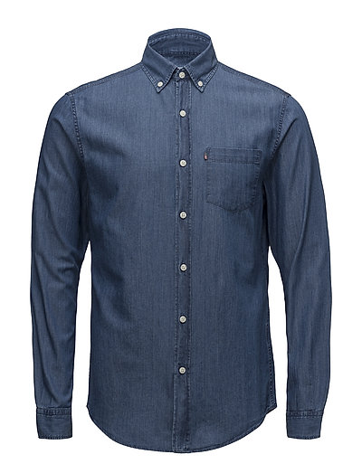 Clive Denim Shirt - MEDIUM BLUE DENIM