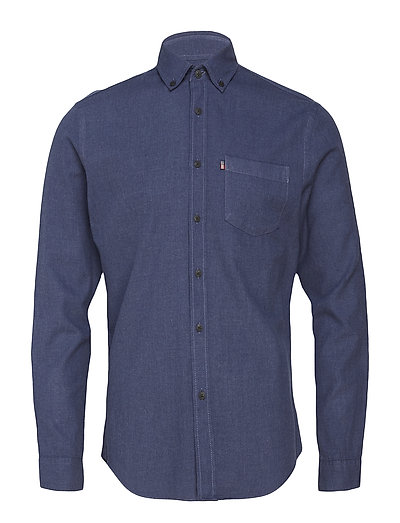Peter Lt Flannel Shirt - INDIGO