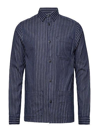 Robert Worker Shirt - BLUE/WHITE STRIPE