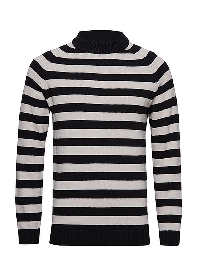 Gerald Striped Sweater - BEIGE/BLACK STRIPE
