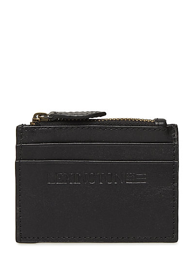 Cove Leather Card Holder - CAVIAR BLACK