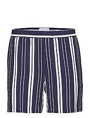 Front - OFF WHITE W. NAVY STRIPE