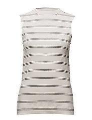 Option - WHITE W. DARK NAVY STRIPE