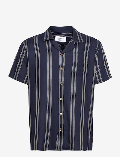 Cave S/S - oxford shirts - navy pin