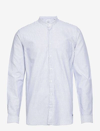 Factory - oxford skjorter - white + blue stripe