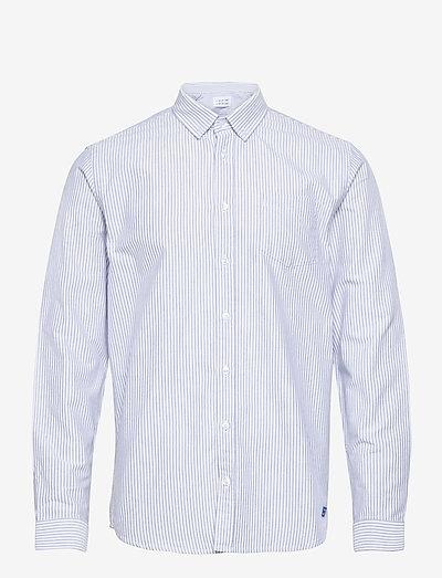 Hunter - denimskjorter - white + blue stripe