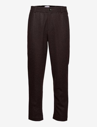 Smoke - kostymbyxor - dark brown twill