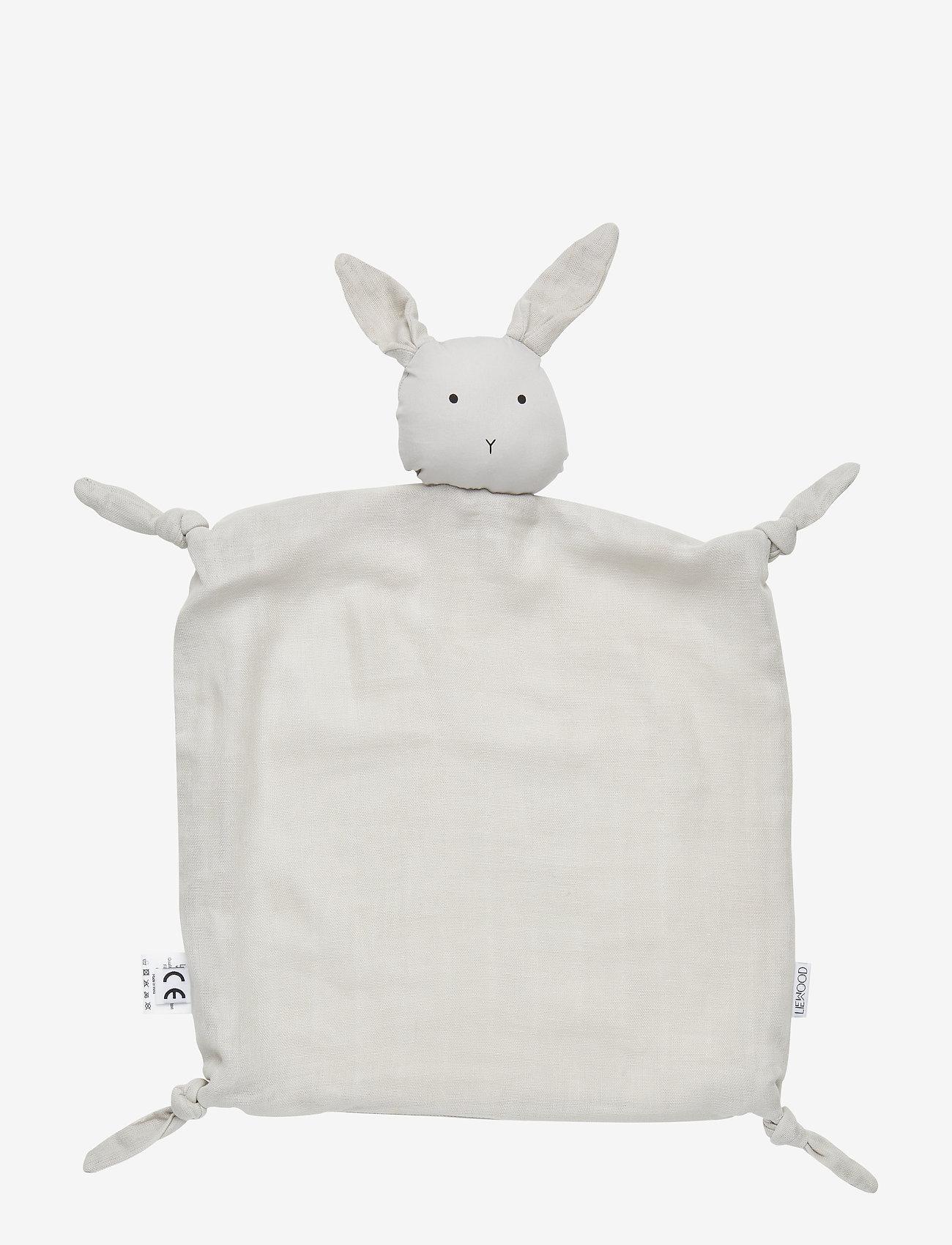 Liewood - Agnete cuddle cloth - snuttefiltar - rabbit dumbo grey - 0