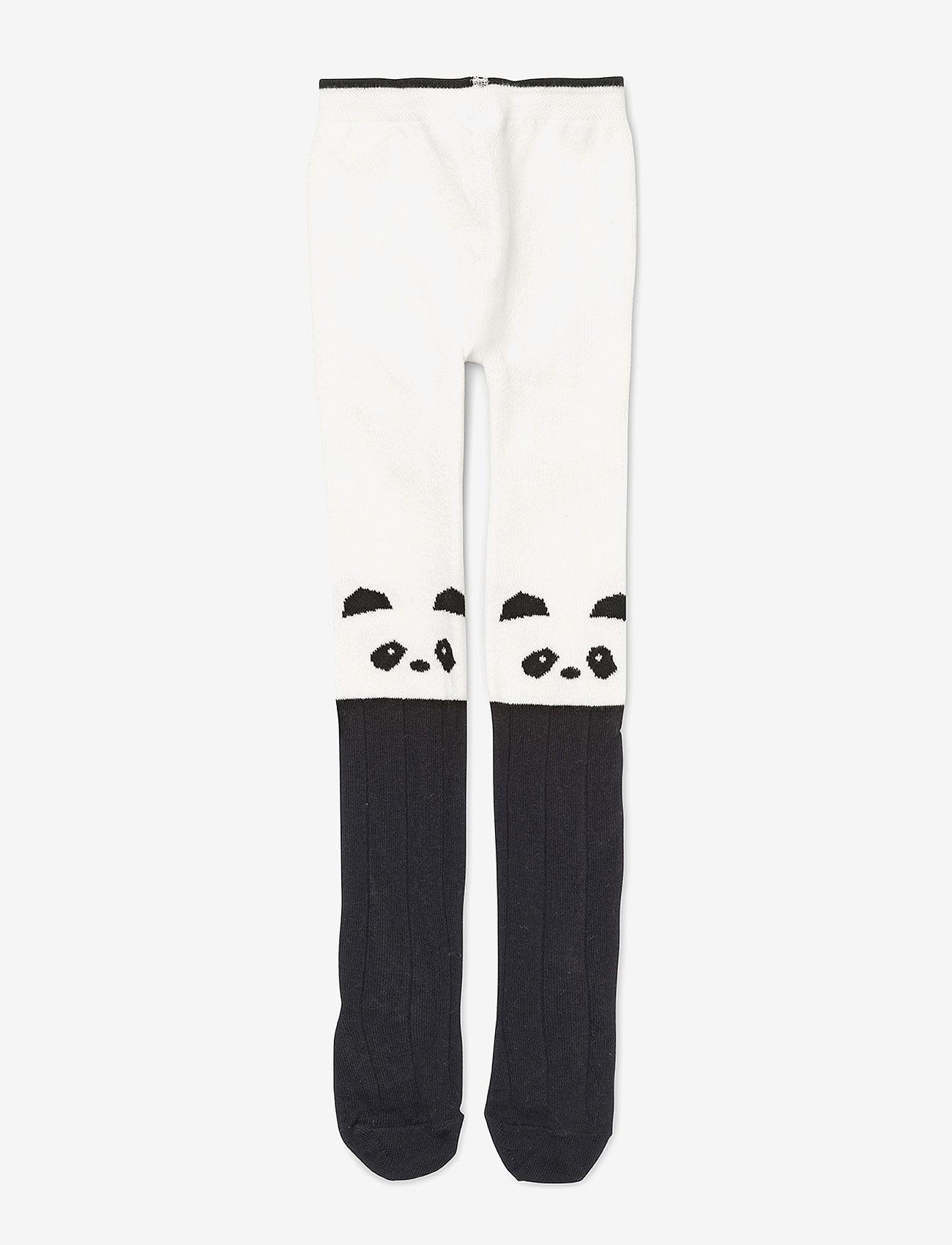Liewood - Silje cotton stocking - rajstopy - panda creme de la creme - 0