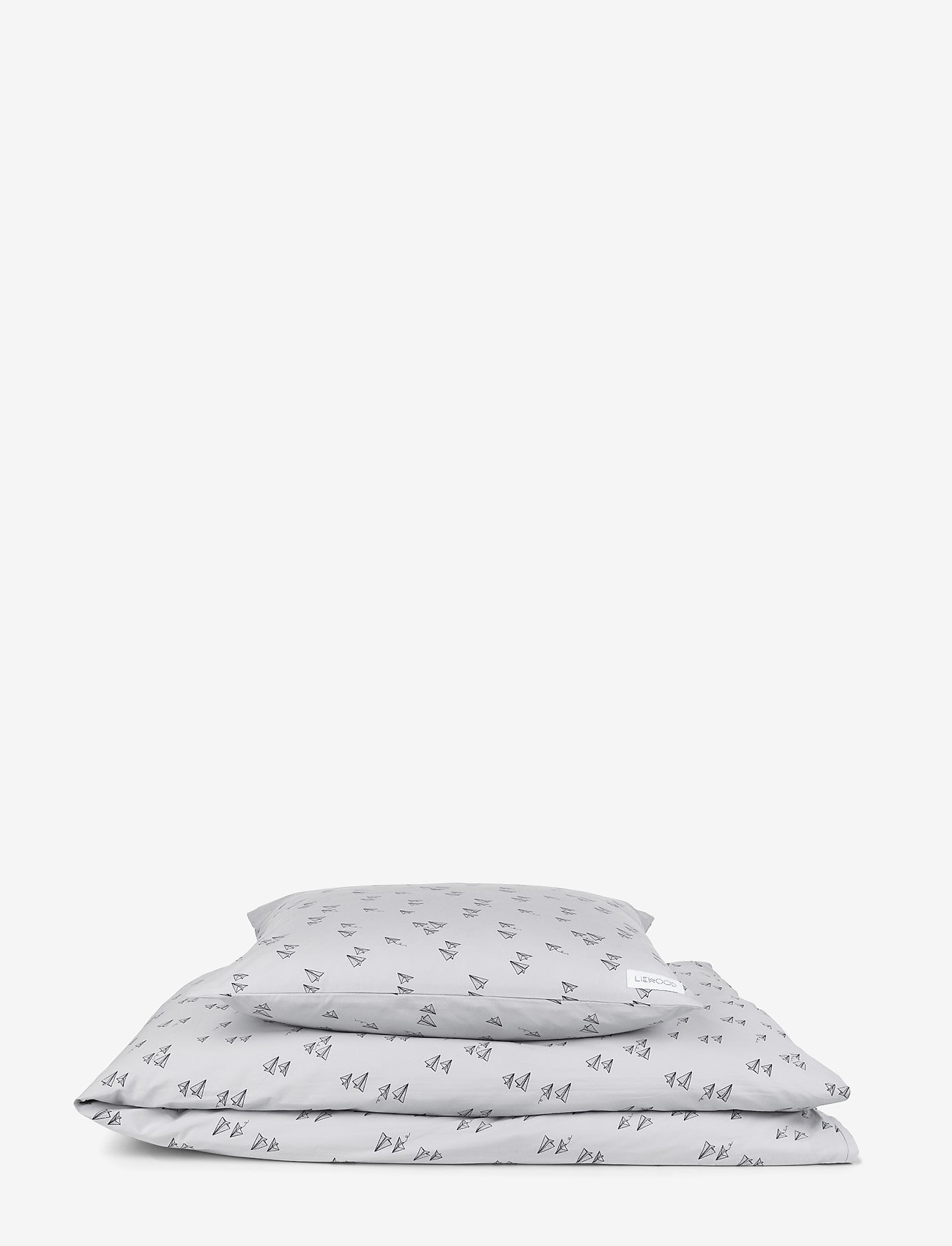 Picture of: Carmen Baby Bedding Print Paperplane Dumbo Grey 247 Kr Liewood Boozt Com
