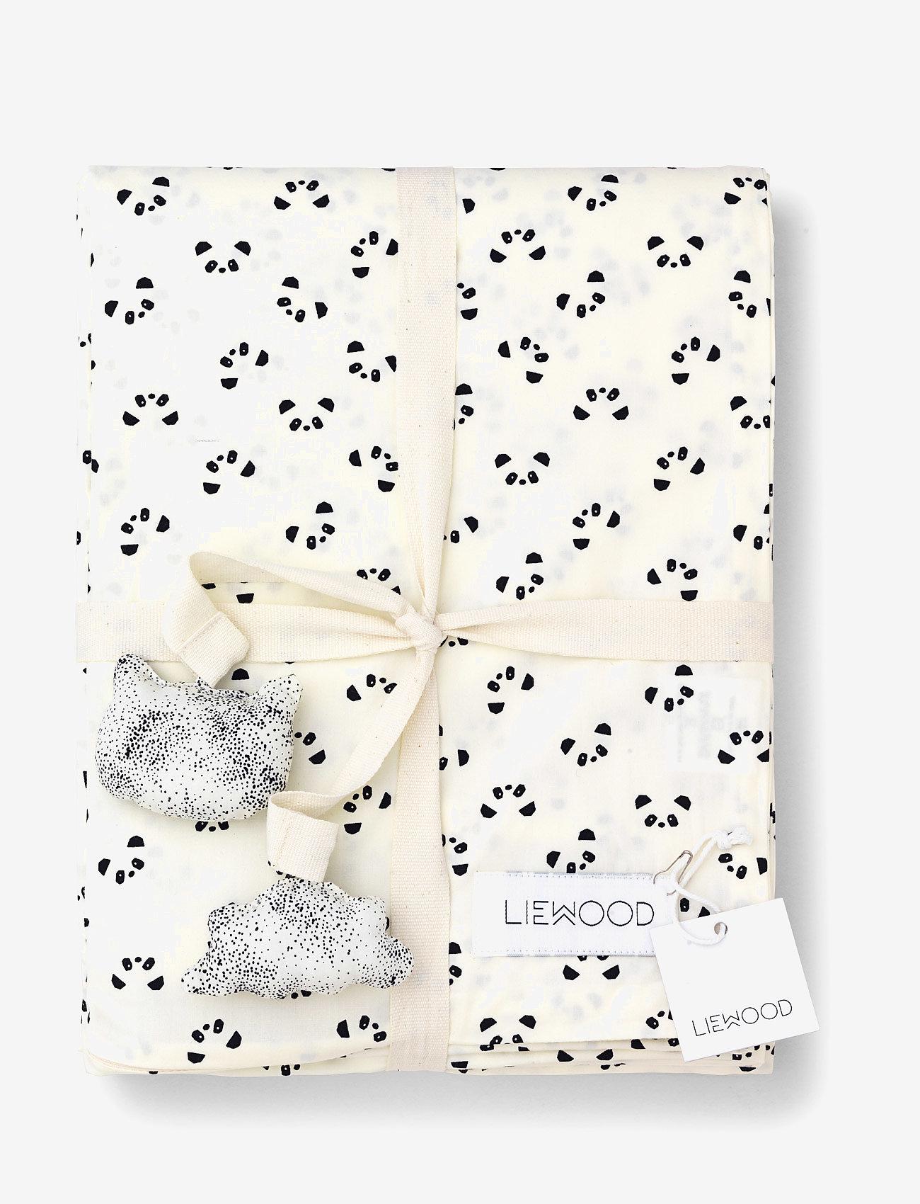 Liewood - Ingeborg junior bedding print - beddings - panda creme de la creme - 1