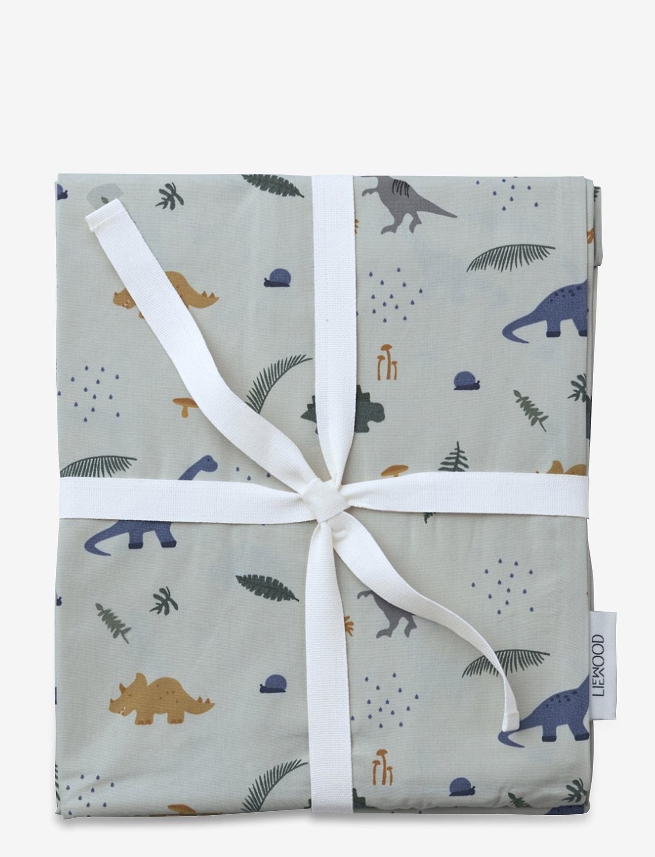 Liewood - Ingeborg junior bedding print - beddings - dino dove blue mix - 1
